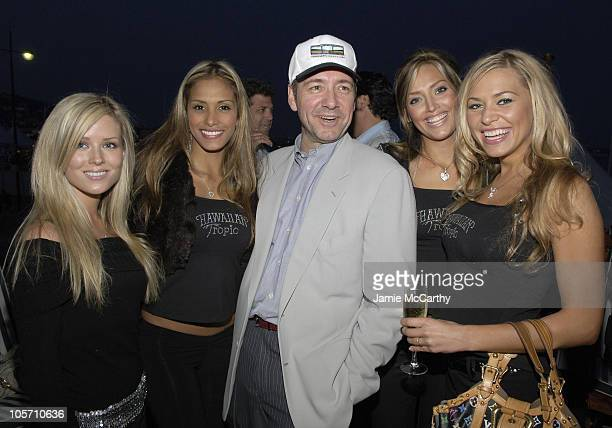 Kevin Spacey with Hawaiian Tropic Models during 2005 Cannes Film Festival AnheuserBusch Hosts Arclight / Trigger Street Party at AnheuserBusch Big...