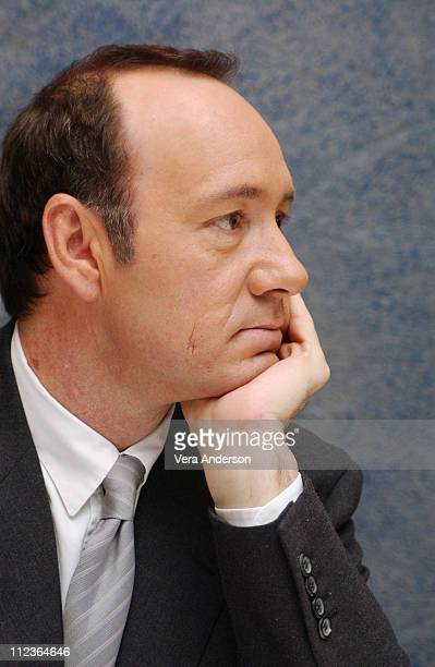 Kevin Spacey writer/director/star during 'Beyond the Sea' Press Conference with Kevin Spacey and Kate Bosworth at Four Seasons Hotel in Beverly Hills...