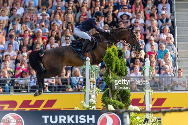 Kevin Staut is seen during the CHIO competition on July 21, 2019 in Aachen, Germany.