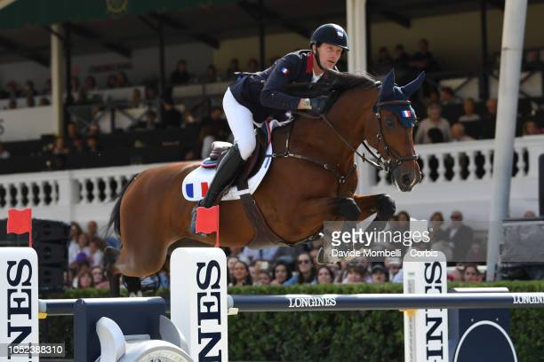 Kevin Staut of France riding For Joy Van't Zorgvliet HDC during Longines FEI Jumping Nations Cup Final Competition on October 7 2018 in Barcelona...