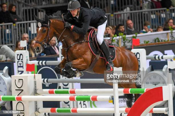 Kevin Staut of France riding For Joy Van't Zorgvliet HDC during the Longines FEI Jumping World Cup Verona 2018 CSI5*W on October 28 2018 in Verona...