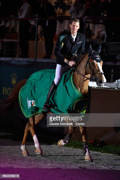 Kevin STAUT of France riding Reveur de Hurtebise HDC during the prize giving cerimony 17th Rolex IJRC Top 10 Final International Jumping Competition...