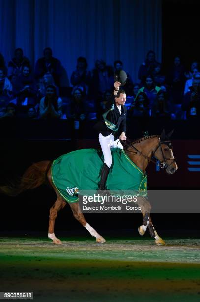 Kevin STAUT of France, riding Reveur de Hurtebise HDC, during the prize giving cerimony 17th Rolex IJRC Top 10 Final. International Jumping...