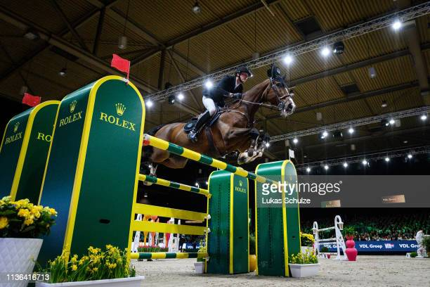 Kevin Staut rides Edesa's Cannary during the The Dutch Masters: Rolex Grand Slam of Showjumping at Brabanthallen on March 17, 2019 in...