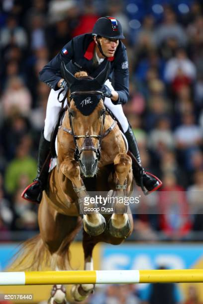 Kevin STAUT riding SILVER DEUX DE VIRTON HDC during the Prize of North RhineWestphalia of the World Equestrian Festival on July 21 2017 in Aachen...