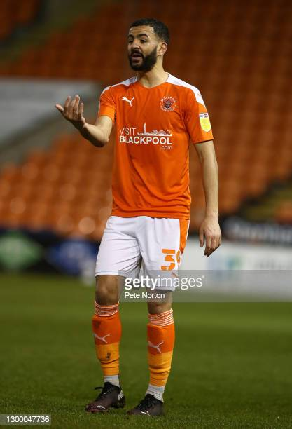Kevin Stewart of Blackpool in action during the Sky Bet League One match between Blackpool and Northampton Town at Bloomfield Road on February 02,...