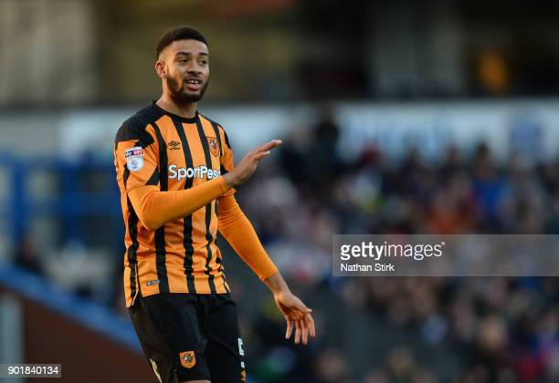 Kevin Stewart of Hull City during The Emirates FA Cup Third Round match between Blackburn Rovers and Hull City at Ewood Park on January 6, 2018 in...