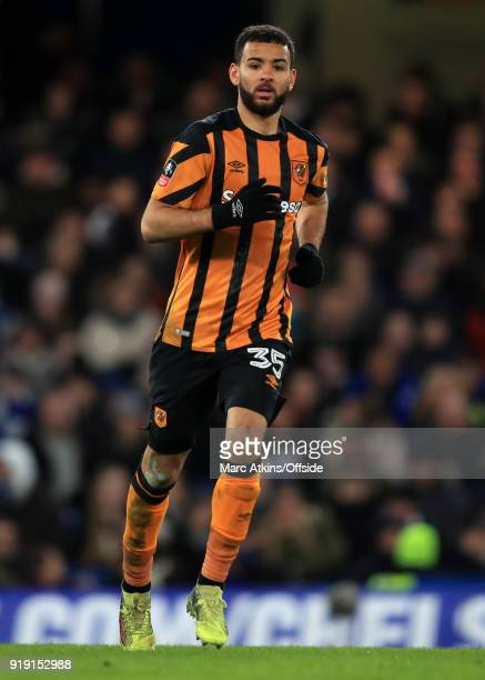 Kevin Stewart of Hull City during the FA Cup 5th Round match between Chelsea and Hull City at Stamford Bridge on February 16 2018 in London England