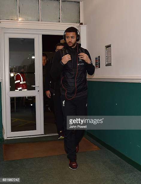 Kevin Stewart of Liverpool arrives before the Emirates FA Cup Third Round replay match between Plymouth Argyle and Liverpool at Home Park on January...