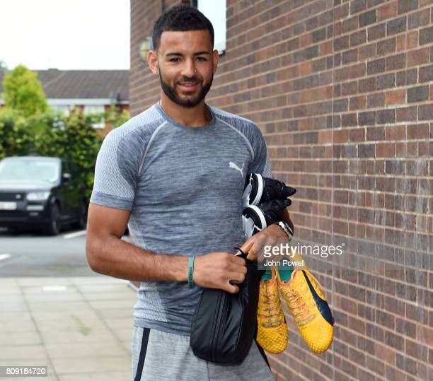 Kevin Stewart of Liverpool arriving before a training session at Melwood Training Ground on July 5 2017 in Liverpool England