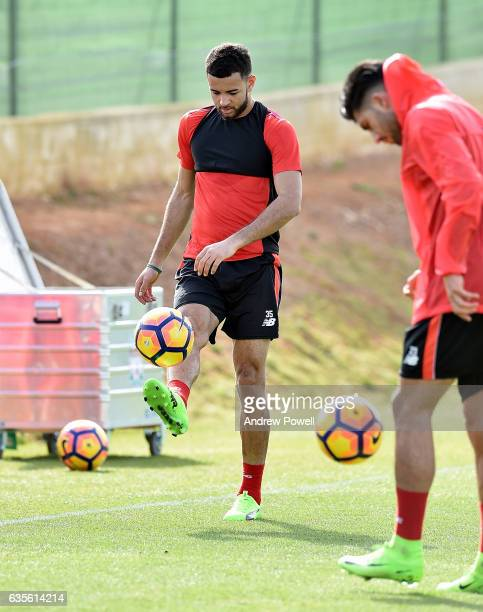 Kevin Stewart of Liverpool during a training session at La Manga on February 16 2017 in La Manga Spain