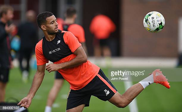 Kevin Stewart of Liverpool during a training session at Melwood Training Ground on August 22 2016 in Liverpool England
