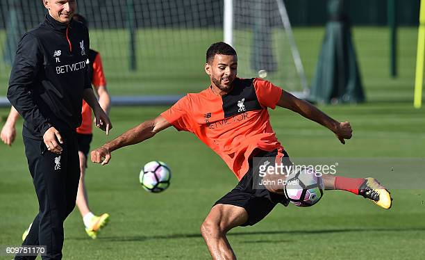 Kevin Stewart of Liverpool during a training session at Melwood Training Ground on September 22 2016 in Liverpool England