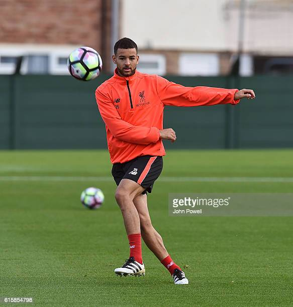 Kevin Stewart of Liverpool during a training session at Melwood Training Ground on October 20 2016 in Liverpool England