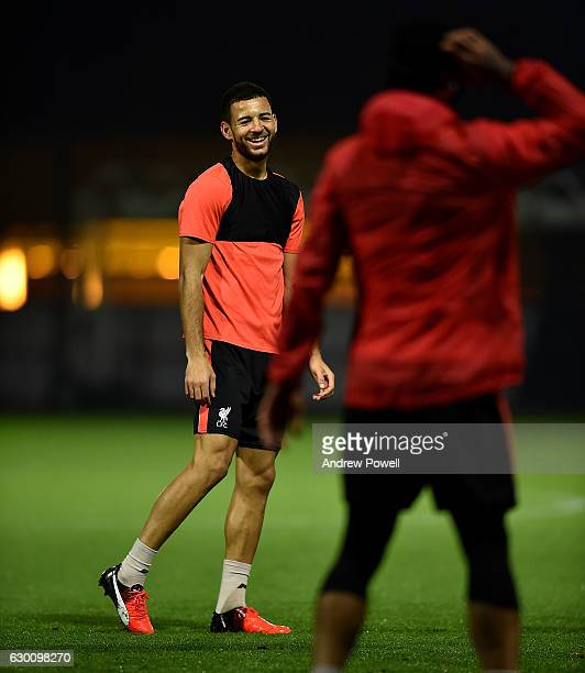 Kevin Stewart of Liverpool during a training session at Melwood Training Ground on December 16 2016 in Liverpool England