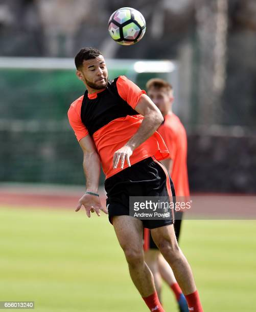 Kevin Stewart of Liverpool during a training session at Tenerife Top Training on March 21 2017 in Tenerife Spain