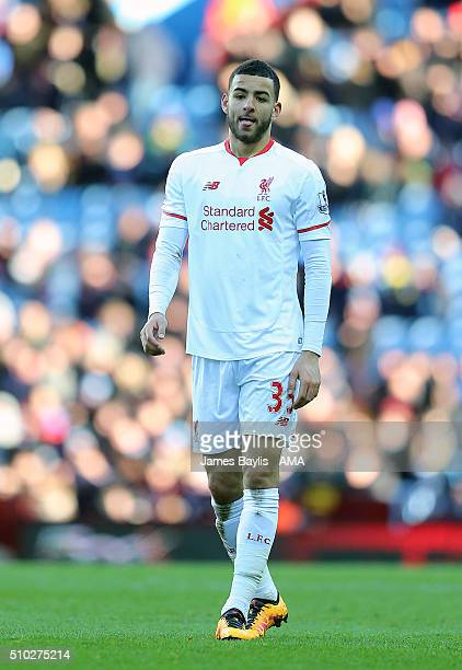 Kevin Stewart of Liverpool during the Barclays Premier League match between Aston Villa and Liverpool at Villa Park on February 14 2016 in Birmingham...
