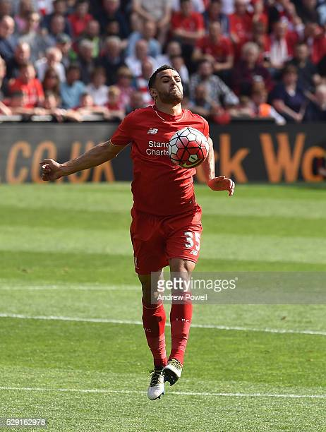 Kevin Stewart of Liverpool during the Barclays Premier League match between Liverpool and Watford at Anfield on May 08 2016 in Liverpool England