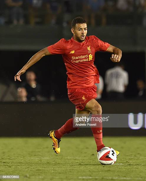 Kevin Stewart of Liverpool during the International Champions Cup match between Chelsea and Liverpool at Rose Bowl on July 27 2016 in Pasadena...