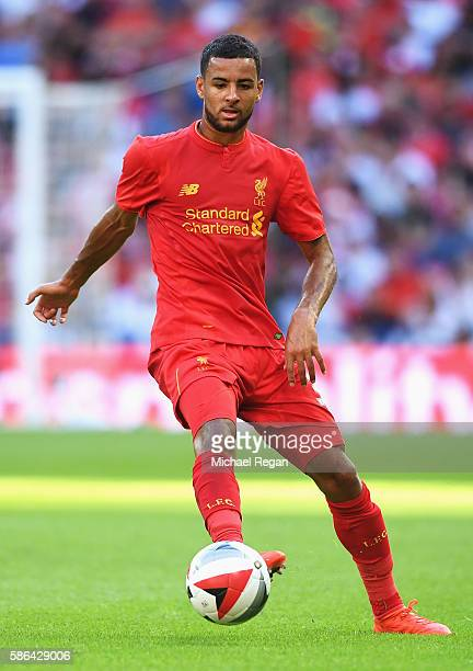 Kevin Stewart of Liverpool during the International Champions Cup match between Liverpool and Barcelona at Wembley Stadium on August 6 2016 in London...