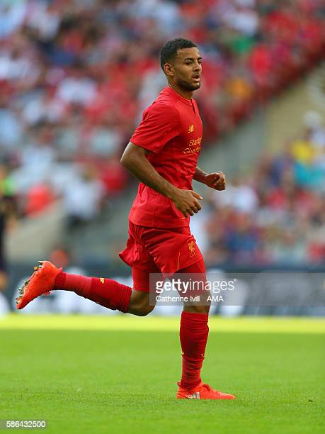 Kevin Stewart of Liverpool during the International Champions Cup 2016 match between Liverpool and Barcelona at Wembley Stadium on August 6 2016 in...