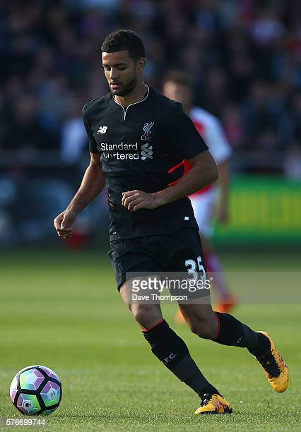 Kevin Stewart of Liverpool during the PreSeason Friendly match between Fleetwood Town and Liverpool at Highbury Stadium on July 13 2016 in Fleetwood...