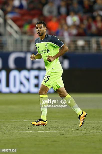 Kevin Stewart of Liverpool FC in action against AC Milan during the International Champions Cup match at Levi's Stadium on July 30 2016 in Santa...