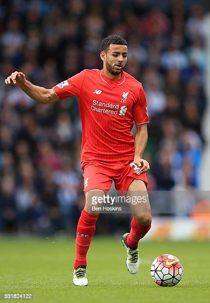 Kevin Stewart of Liverpool in action during the Barclays Premier League match between West Bromwich Albion and Liverpool at The Hawthorns on May 15...