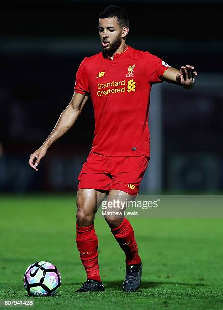 Kevin Stewart of Liverpool in action during the Premier League 2 match between Tottenham Hotspur and Liverpool at The Lamex Stadium on September 19...