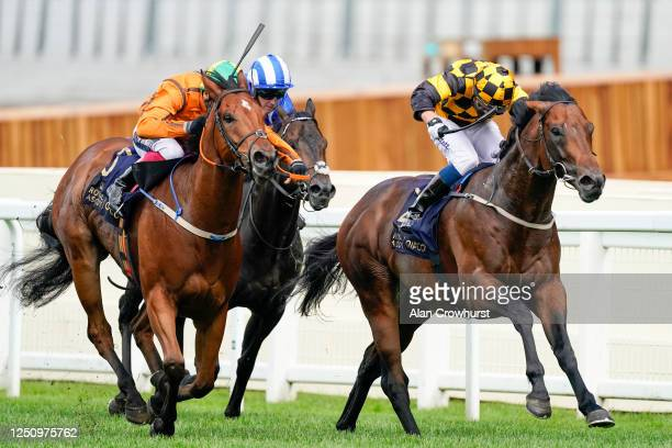 Kevin Stott riding Hello Youmzain wins The Diamond Jubilee Stakes on Day Five of Royal Ascot 2020 at Ascot Racecourse on June 20 2020 in Ascot...