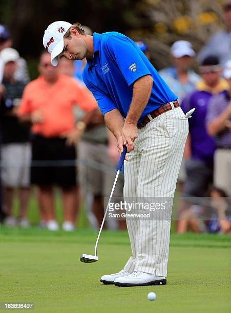 Kevin Streelman plays a shot on the 16th hole during the final round of the Tampa Bay Championship at the Innisbrook Resort and Golf Club on March 17...