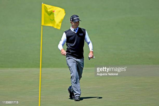 Kevin Streelman reacts after he made an Eagle on No 2 during Round 3 at Augusta National Golf Club on Saturday April 9 2016