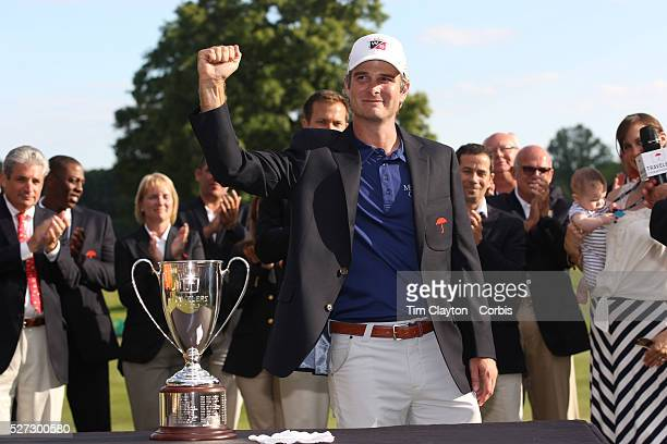 Kevin Streelman USA with the trophy after winning the Travelers Championship at the TPC River Highlands Cromwell Connecticut USA 22nd June 2014 Photo...