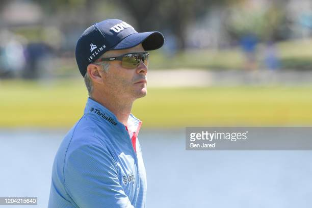 Kevin Streelman walks off the first green during the third round of The Honda Classic at PGA National Champion course on February 29, 2020 in Palm...