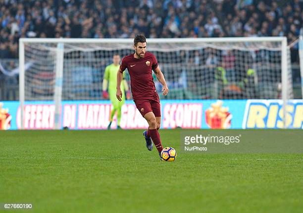 Kevin Strootman during the Italian Serie A football match between SS Lazio and AS Roma at the Olympic Stadium in Rome on december 04 2016