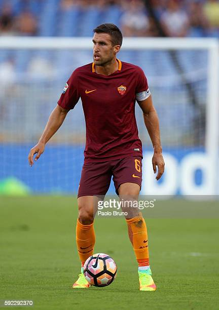 Kevin Strootman of AS Roma in action during the Serie A match between AS Roma and Udinese Calcio at Olimpico Stadium on August 20 2016 in Rome Italy
