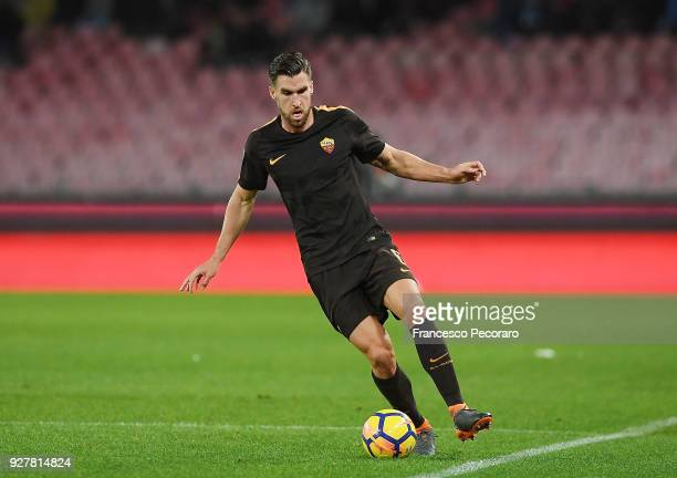 Kevin Strootman of AS Roma in action during the serie A match between SSC Napoli and AS Roma Serie A at Stadio San Paolo on March 3 2018 in Naples...