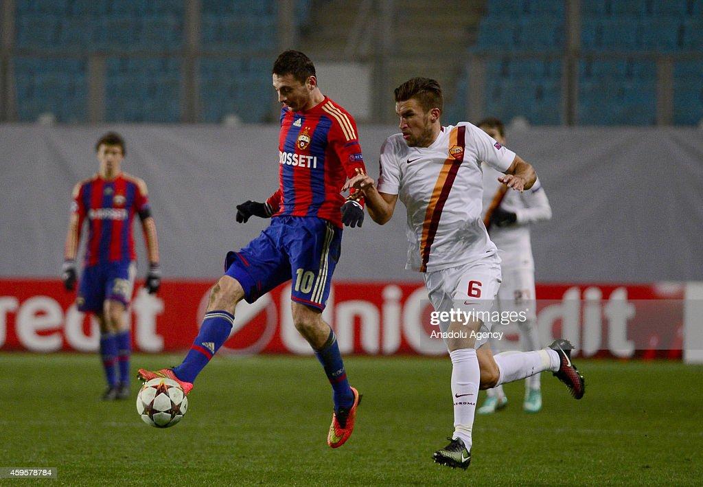 CSKA Moscow vs AS Roma - UEFA Champions League : News Photo