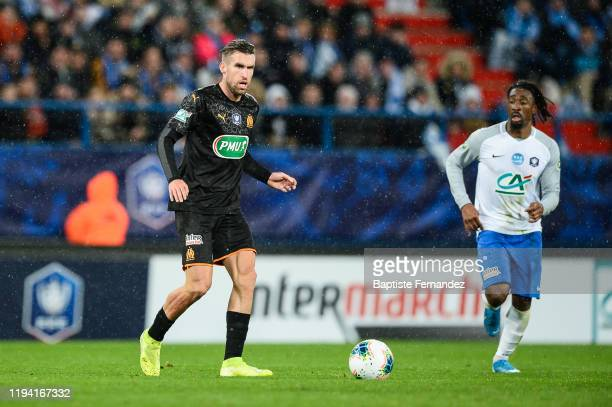 Kevin STROOTMAN of Marseille during the French Cup Soccer match between US Granville and Olympique de Marseille at Stade Michel D'Ornano on January...