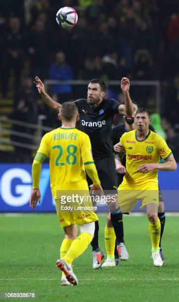 Kevin Strootman of Marseille during the French Ligue 1 match between FC Nantes and Olympique de Marseille on December 5 2018 in Nantes France