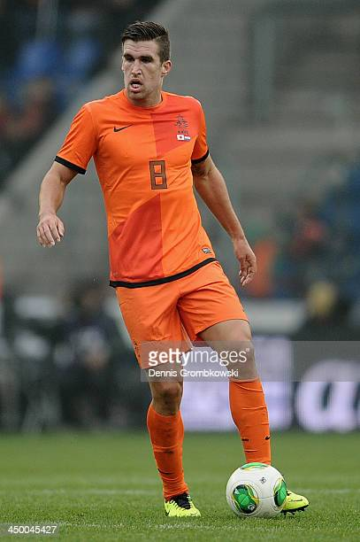 Kevin Strootman of Netherlands controls the ball during the International Friendly match between the Netherlands and Japan on November 16 2013 in...