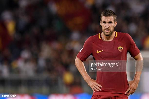 Kevin Strootman of Roma during the Serie A match between Roma and Internazionale at Stadio Olimpico Rome Italy on 26 August 2017