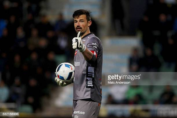 Kevin Stuhr Ellegaard goalkeeper of IF Elfsborg during the Allsvenskan match between GIF Sundsvall and IF Elfsborg at Norrporten Arena on May 18 2016...
