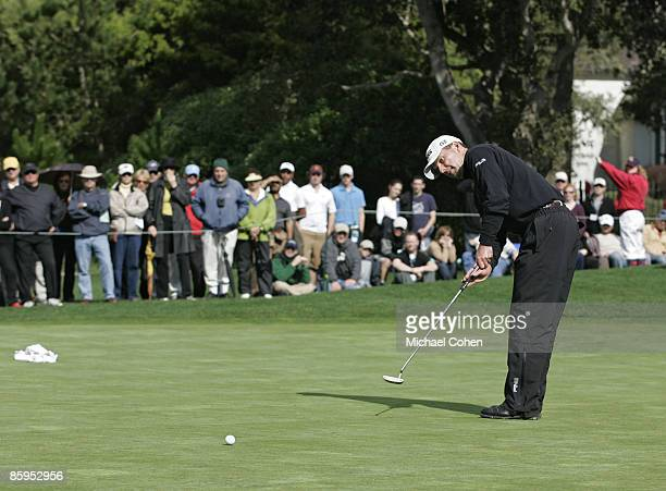 Kevin Sutherland during the fourth round of the AT&T Pebble Beach National Pro-Am on the Pebble Beach Golf Course on February 11, 2007.