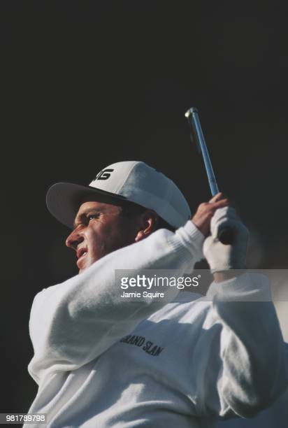 Kevin Sutherland of the United States during the Nissan Los Angeles Open golf tournament on 23 February 1996 at the Riviera Country Club Golf Course...