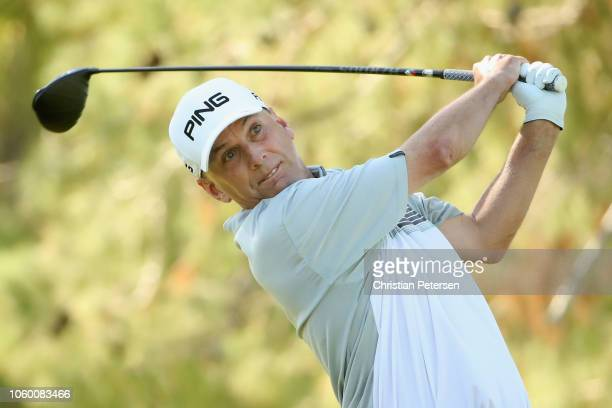 Kevin Sutherland plays a tee shot on the sixth hole during the third round of the Charles Schwab Cup Championship at Phoenix Country Club on November...