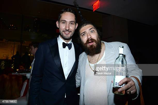 Kevin Systrom and Josh Ostrovsky attend the 2015 CFDA Fashion Awards at Alice Tully Hall at Lincoln Center on June 1 2015 in New York City