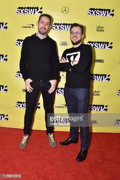 Kevin Systrom and Mike Krieger attend Interactive Keynote Instagram Founders Kevin Systrom Mike Krieger with Josh Constine during the 2019 SXSW...