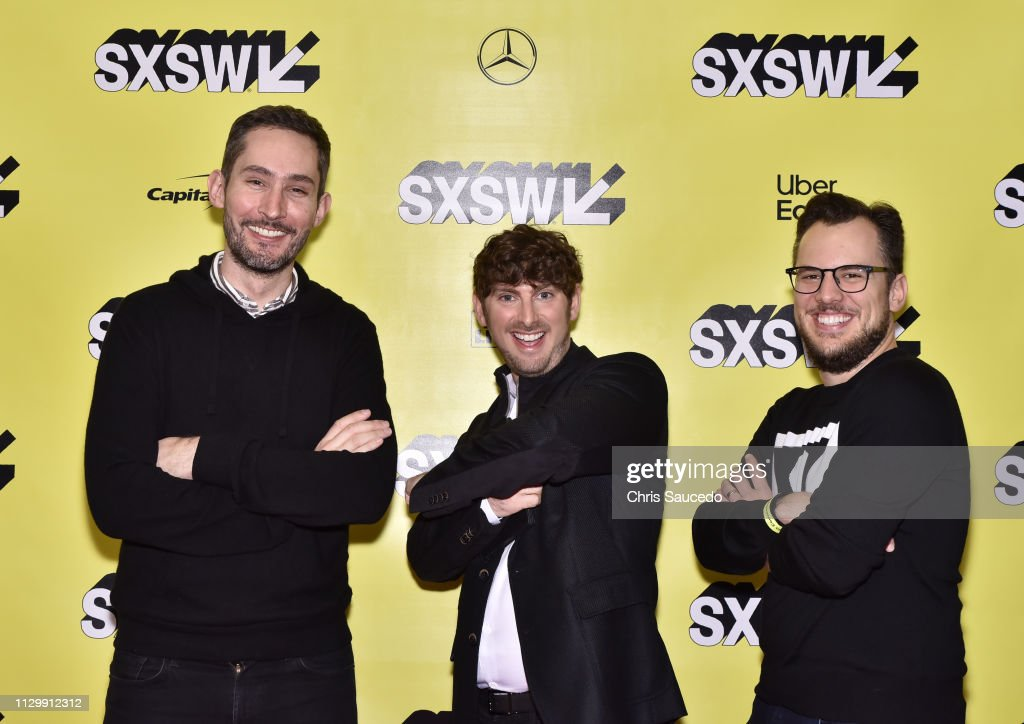Kevin Systrom, Josh Constine and Mike Krieger attend