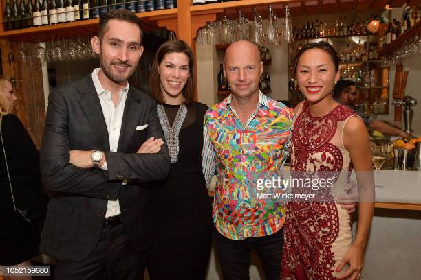 Kevin Systrom Nicole Systrom Sebastian Thrun and Doreen Xia attend VIP Dinner For WIRED's 25th Anniversary Hosted By Nicholas Thompson And Anna...